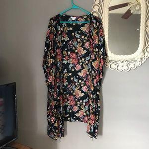 Tops - Bird/floral kimono